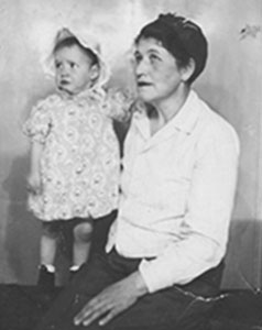Catherine Smith and Baby Sharon