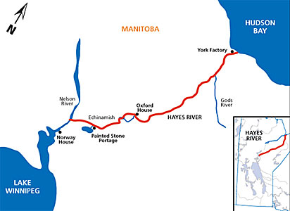 Hayes River Route of the First Selkirk Settlers