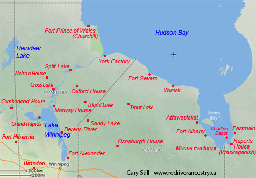 HBC Forts around Hudson Bay