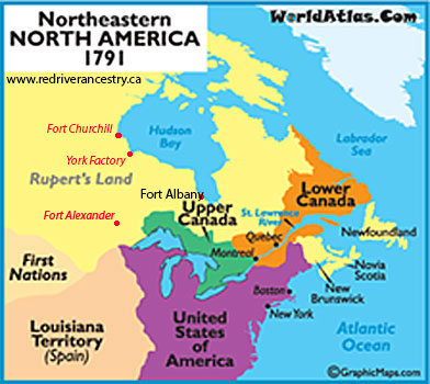 Upper and Lower Canada 1791