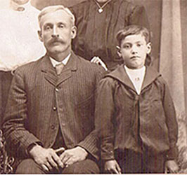 Young Reuben Begg and his father