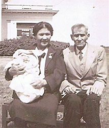 Lydia and her father, Alex Cochrane