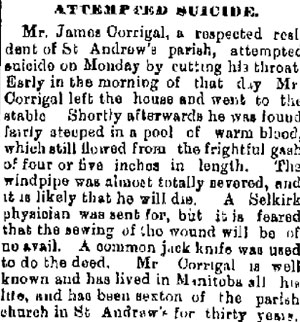 James Corrigal Suicide