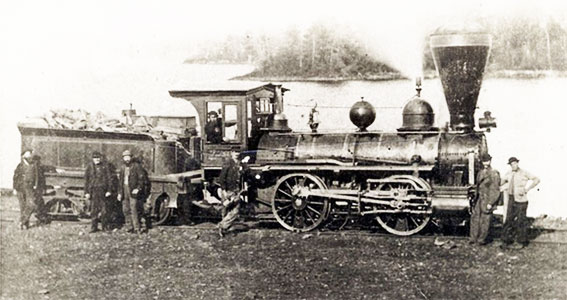 Locomotive Cobourg-Peterborough 1870