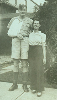 Archie McLeod and his sister-in-law Jean Dobie