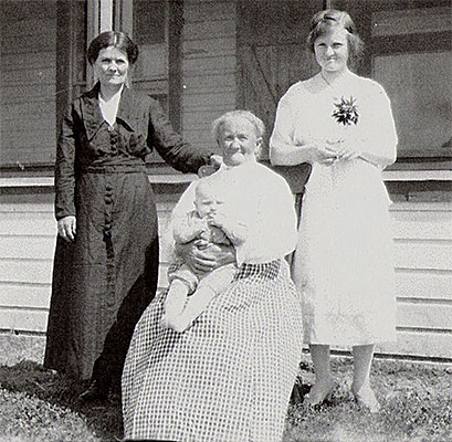 Mary (nee Meade) Quesnel with her mother and daughter