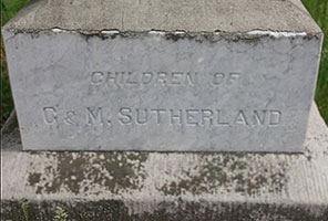 Tombstone - Children of G & M Sutherland