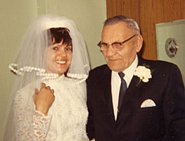 Ventrice & Eldred Thomas at her Wedding