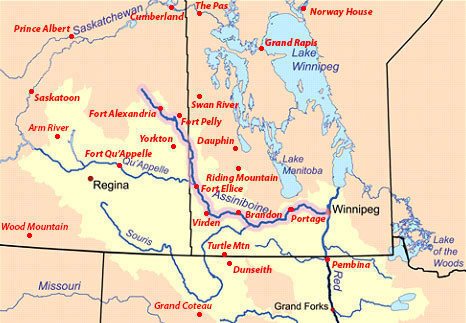 Assiniboine River Forts