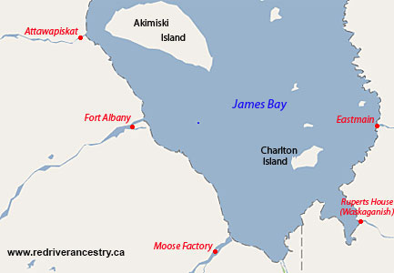 Early HBC Forts on James Bay