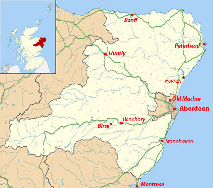 County of Aberdeenshire, Scotland